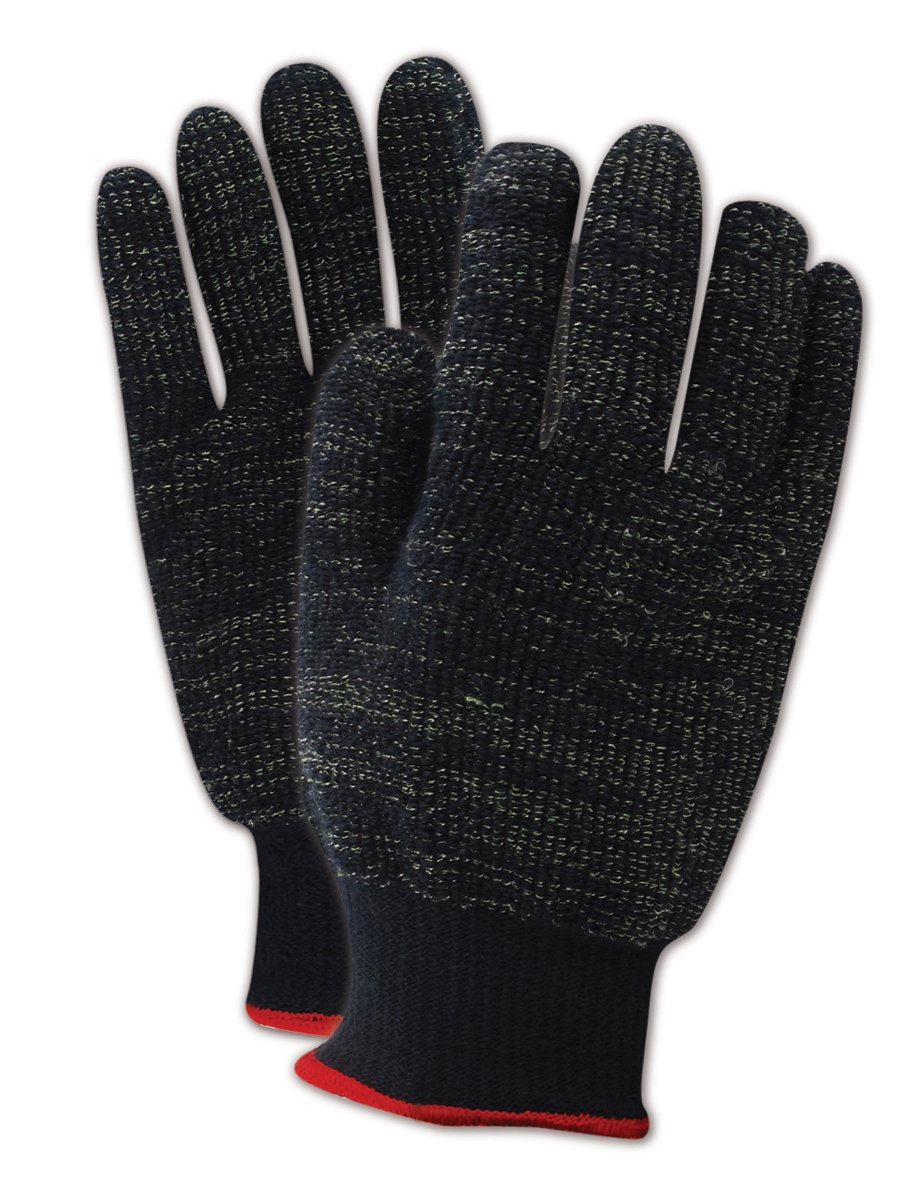 Magid Glove & Safety XKS45011 CutMaster XKS XKS450 Heavyweight XKS Loop-Out Terrycloth Gloves - Cut Level 4, Terrycloth, Size 11, Black (Pack of 12)