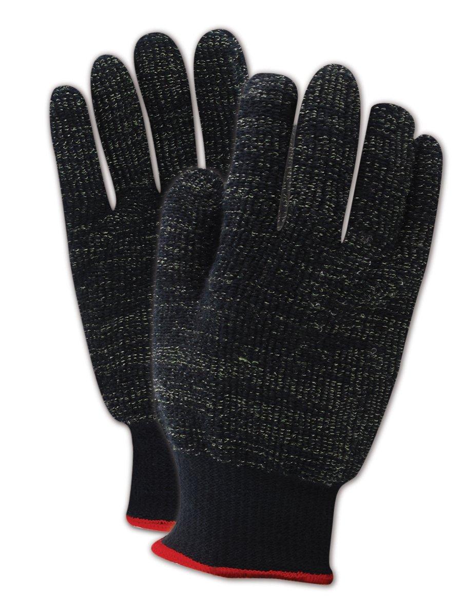 Magid Glove & Safety XKS450-10 Magid Cut Master XKS XKS450 Heavyweight XKS Loop-Out Terrycloth Gloves - Cut Level 4, X-Small, Black, 10 (Pack of 12)