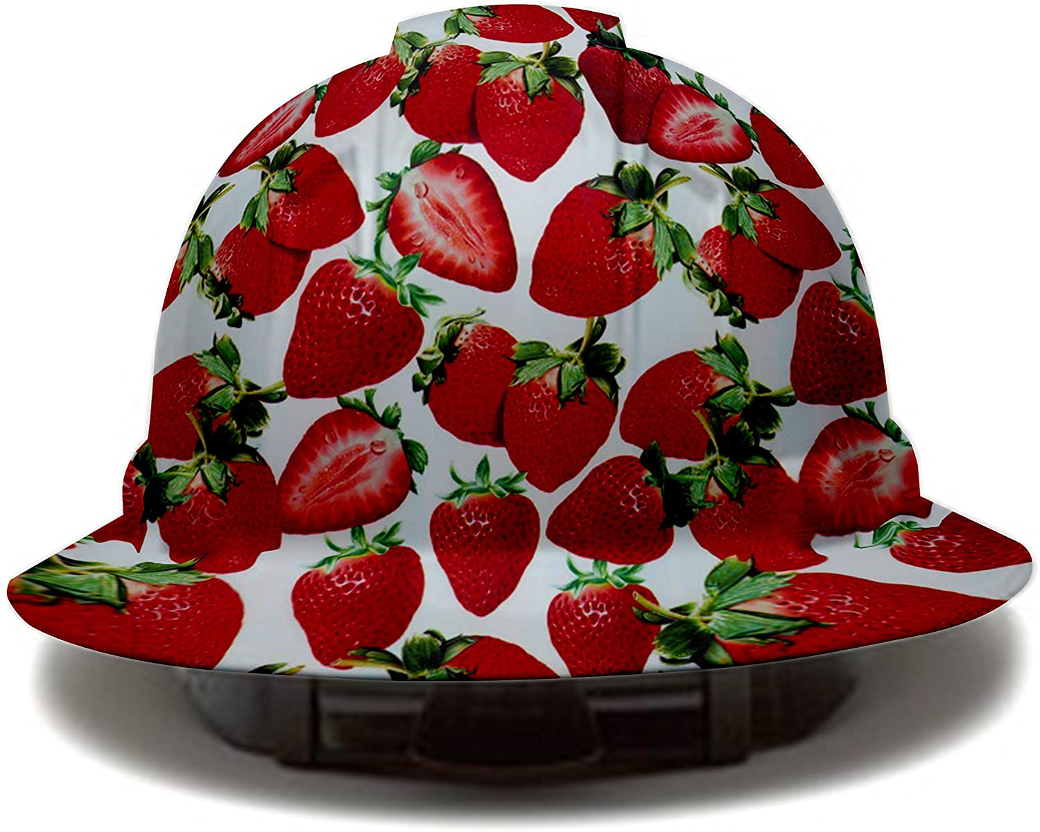 4 Pack Red Strawberry Pyramex Full Brim Hard Hat, 6 Point Suspension, by Acerpal