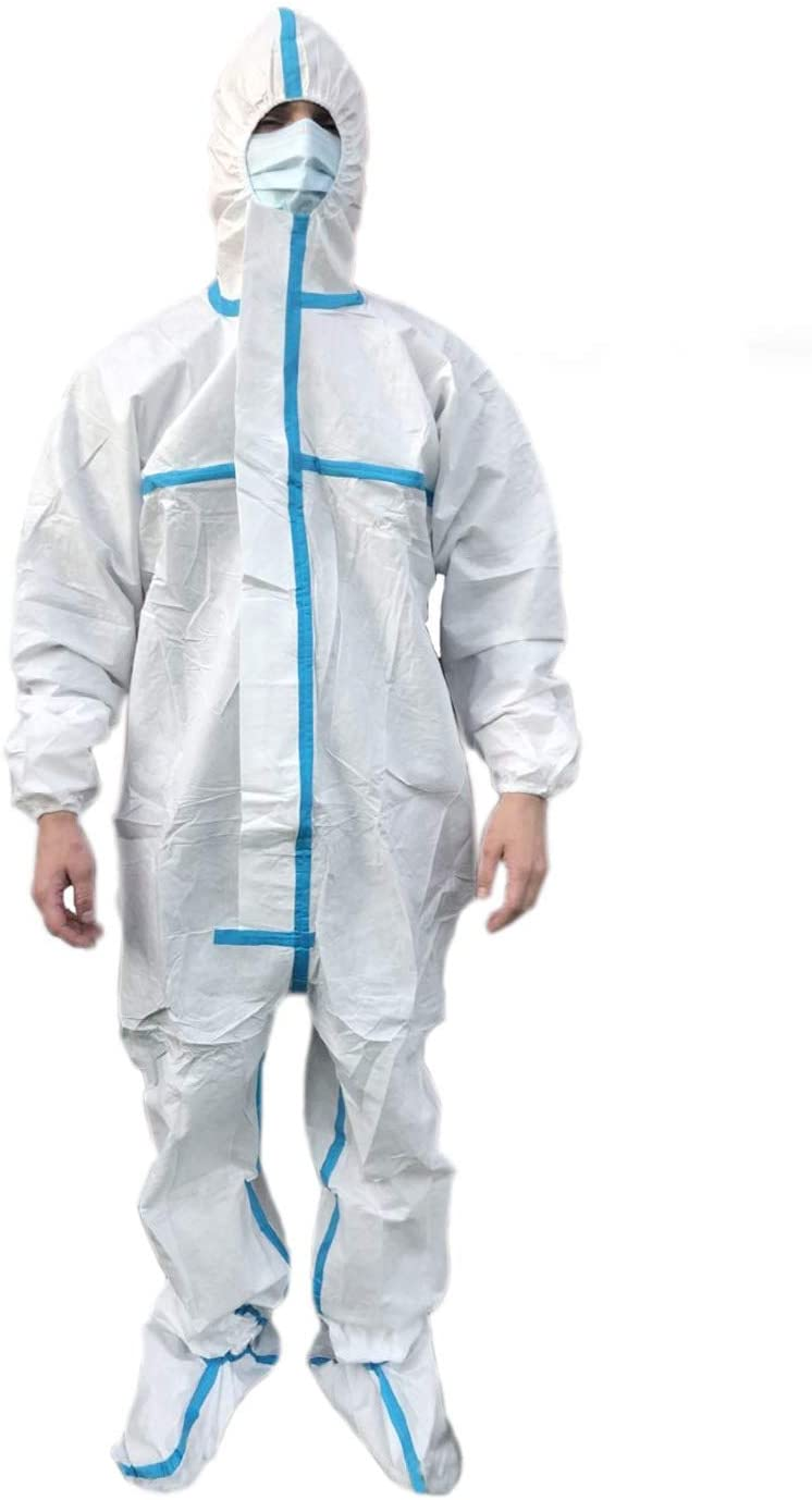 Disposable protective clothing with hood for painting construction (L,175)