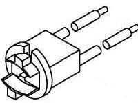 Lamp Holders amp; Accessories T4 Bulb Socket Bayonet Pack of 10 (23-233TL)