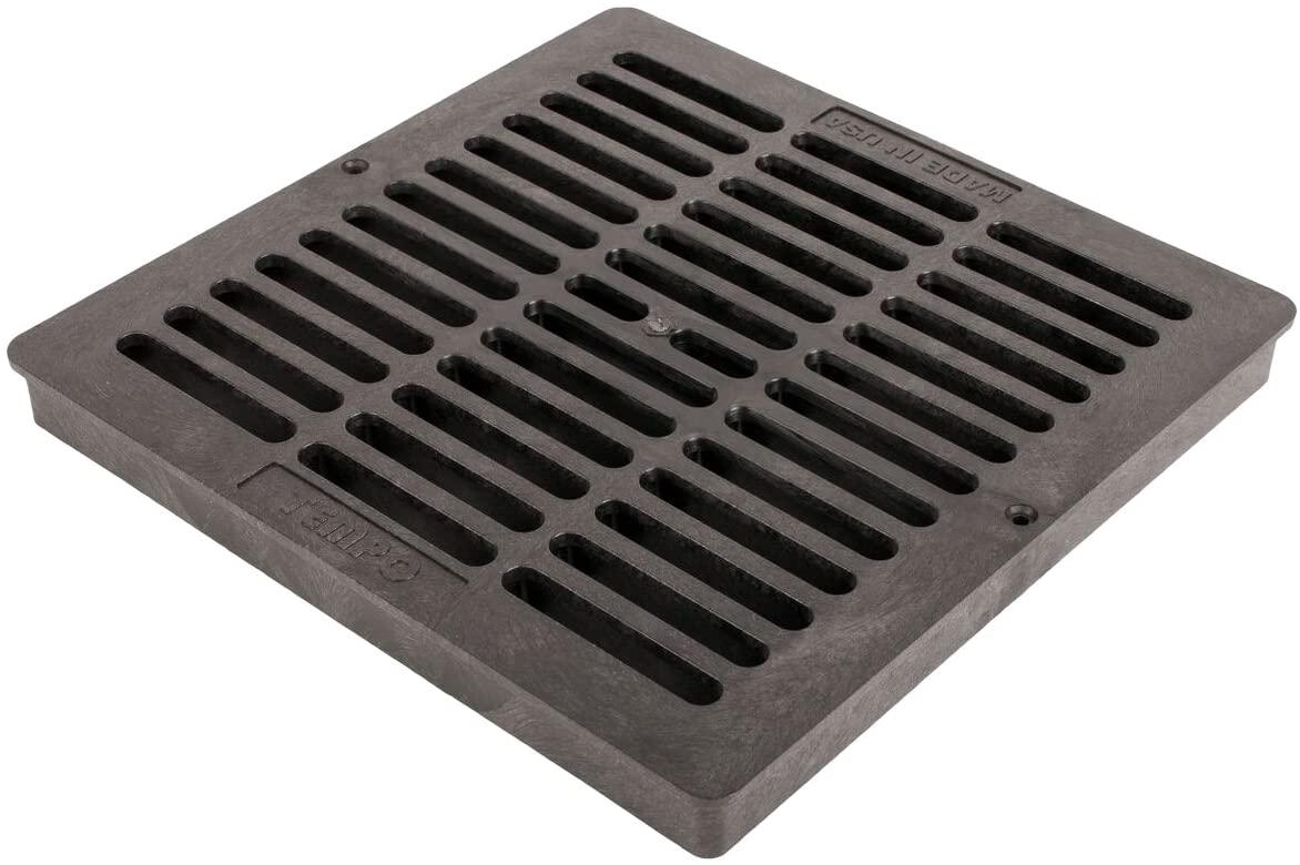 Tempo Square Flat Grates - Size : 12 - Color : Black