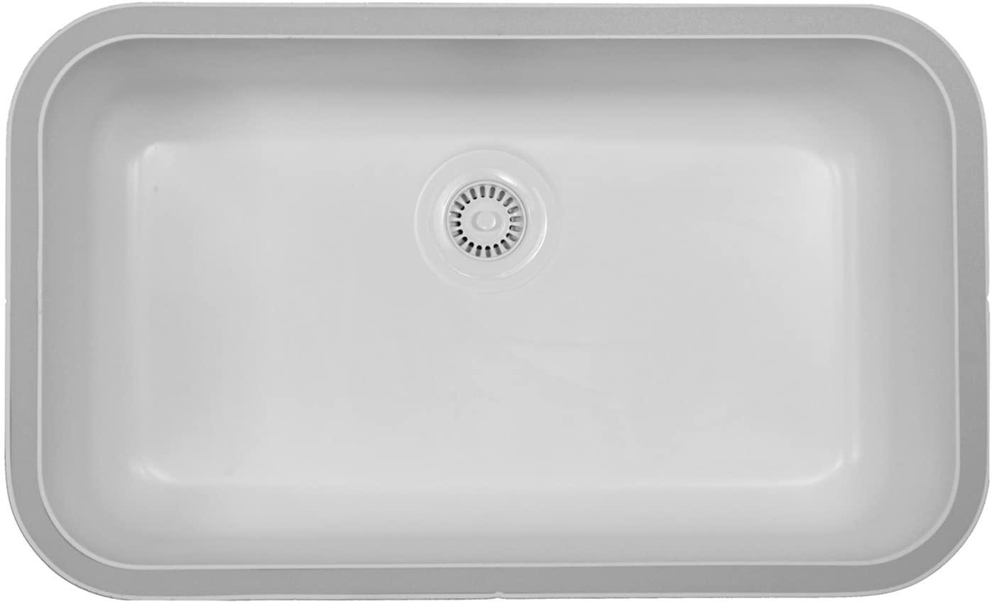 Karran A-340 Sink/Extra Large Single Bowl/White