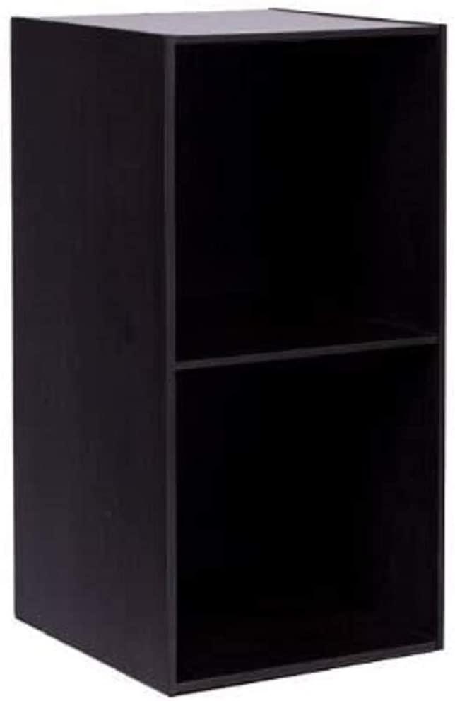 Furinno Hidup Tropika Eco Modular Open Cube Tall Storage Shelf, Espresso