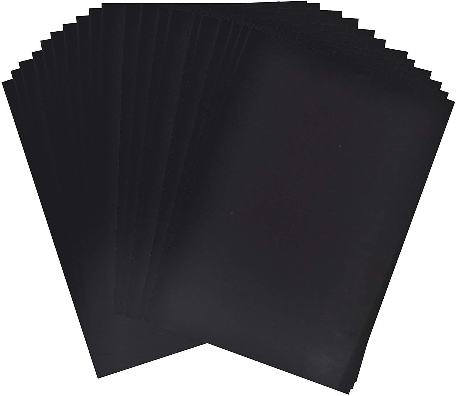 Adhesive Backed Felt Sheet for Crafts, Drawer Liner; 20 PCs Velvet Fabric Strip with Sticky Backing by Mandala Crafts (11.5 X 8 Inches, Black)
