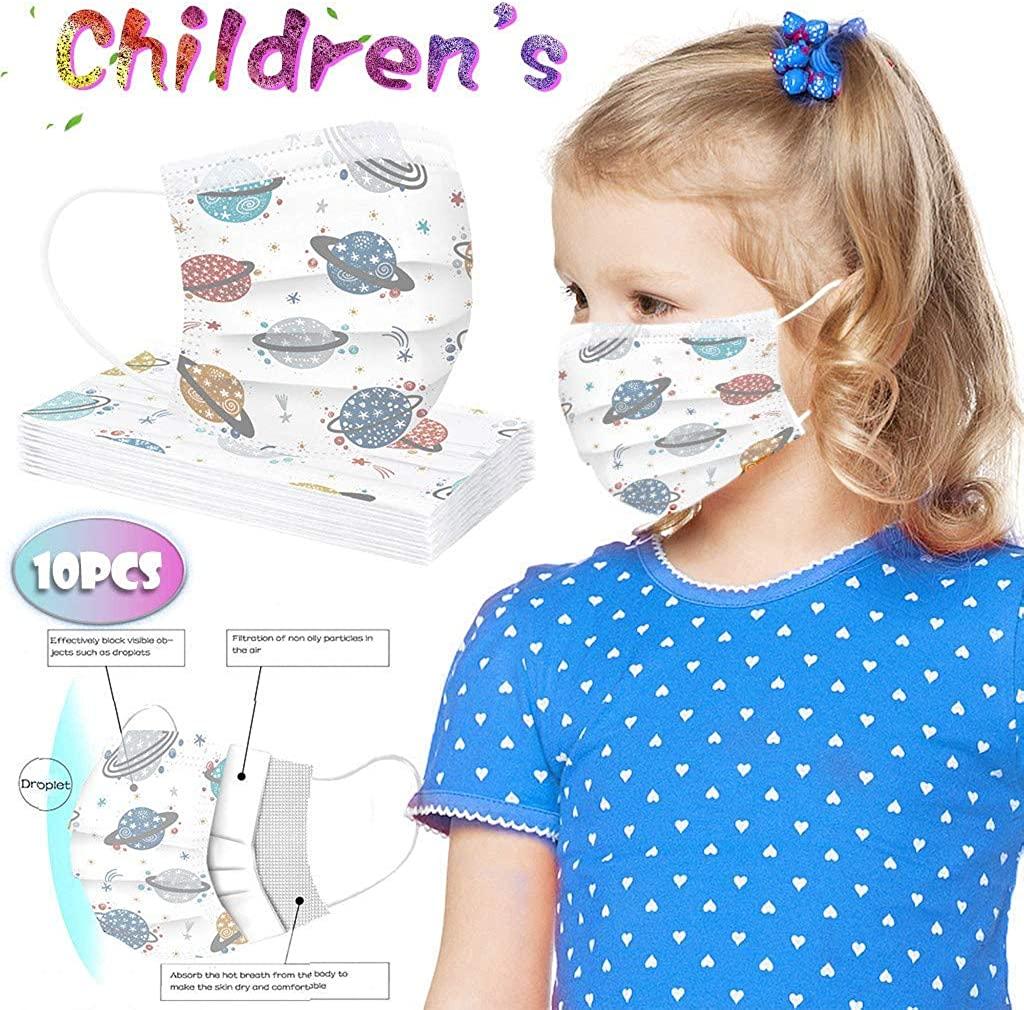Dancevoval Children's Face Coverings Face Protection Disposable Face Coverings Face Protection Industrial 3Ply Ear Loop