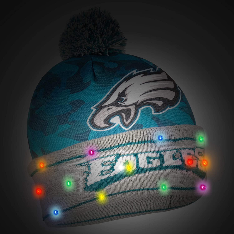 FOCO NFL Team Camouflage Light Up Beanie