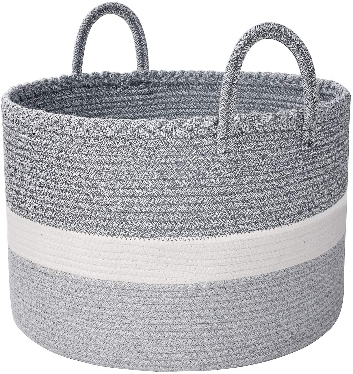 Bsubseach Extra Large Cotton Rope Storage Baskets, 20