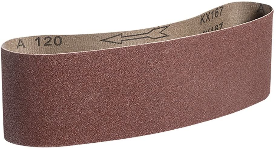 Mercer Industries 107100 Aluminum Oxide Premium Sanding Belts, 100 Grit (10 Pack), 3