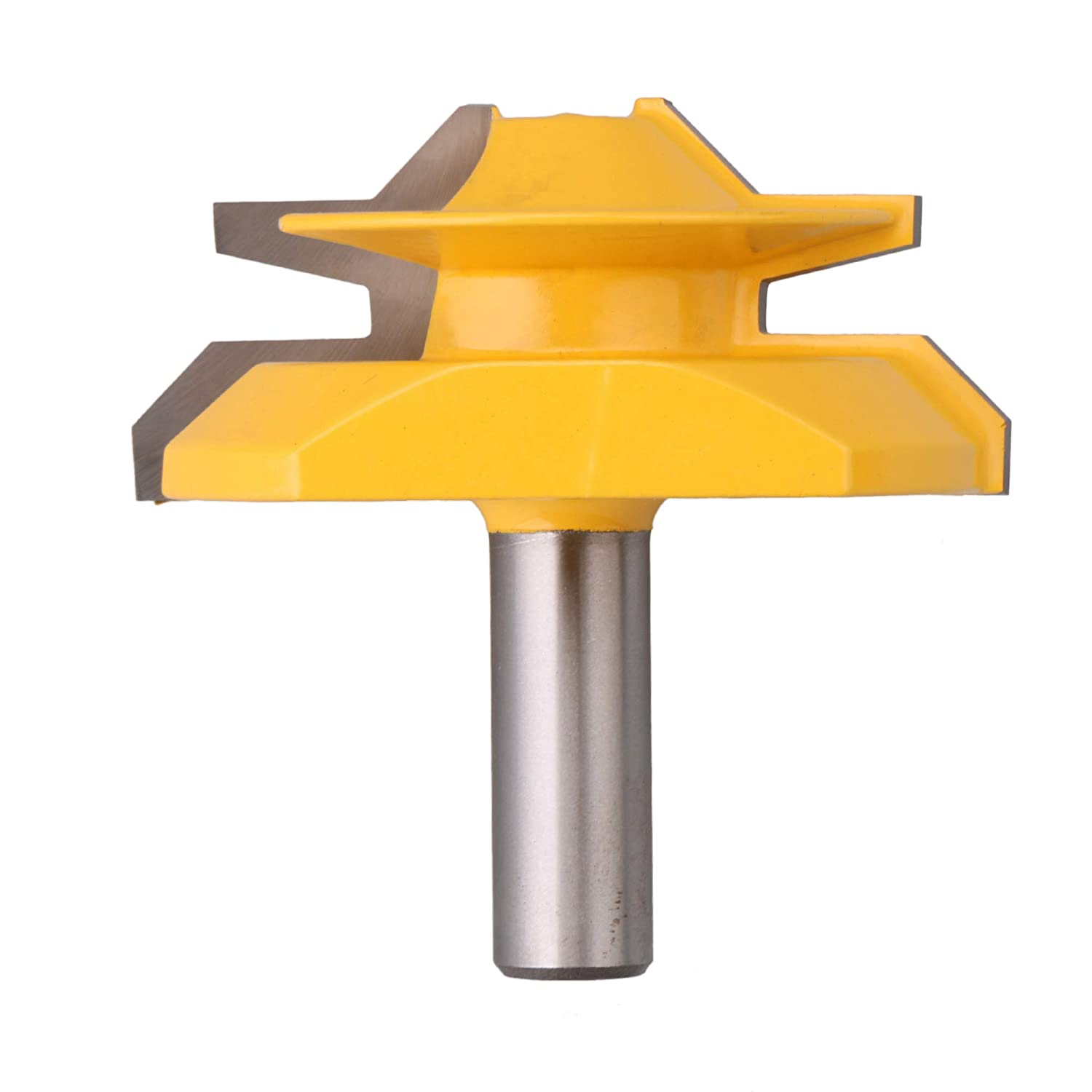 Yibuy 45°Joint Lock Miter Router Bit 1/2 Inch Shank 2-3/4 Inch Stock DIY Tool