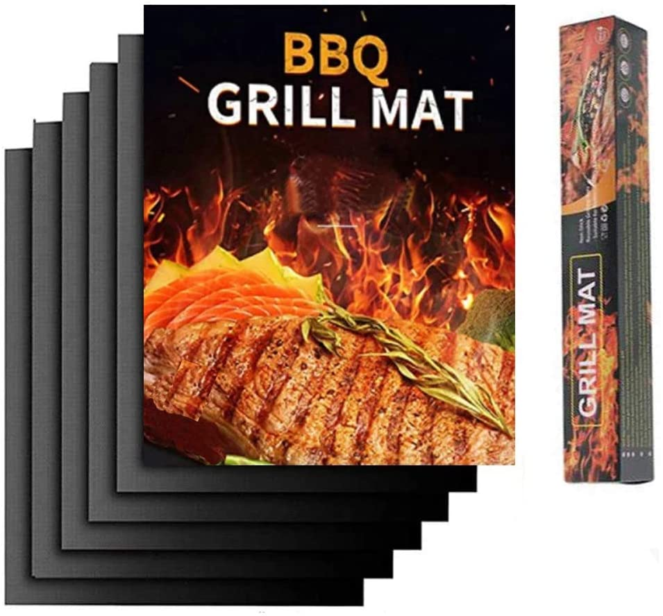 Grill Mat - Set of 5 Heavy Duty BBQ Grill Mats Non Stick, BBQ Grill & Baking Mats - Reusable, Easy to Clean Barbecue Grilling Accessories