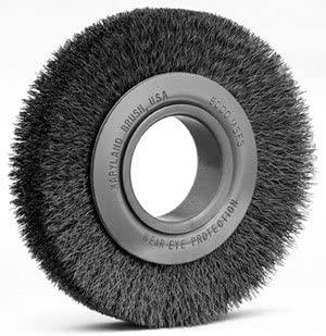 Maryland Brush 41018 - Red Center Wheel Brush - 8 in Diam, 2 in Arbor Dia, 1-3/8 in Width, 6000 RPM