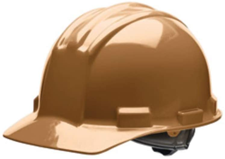 Bullard Tan HDPE Cap Style Hard Hat With 4 Point Rachet Suspension-1 Each