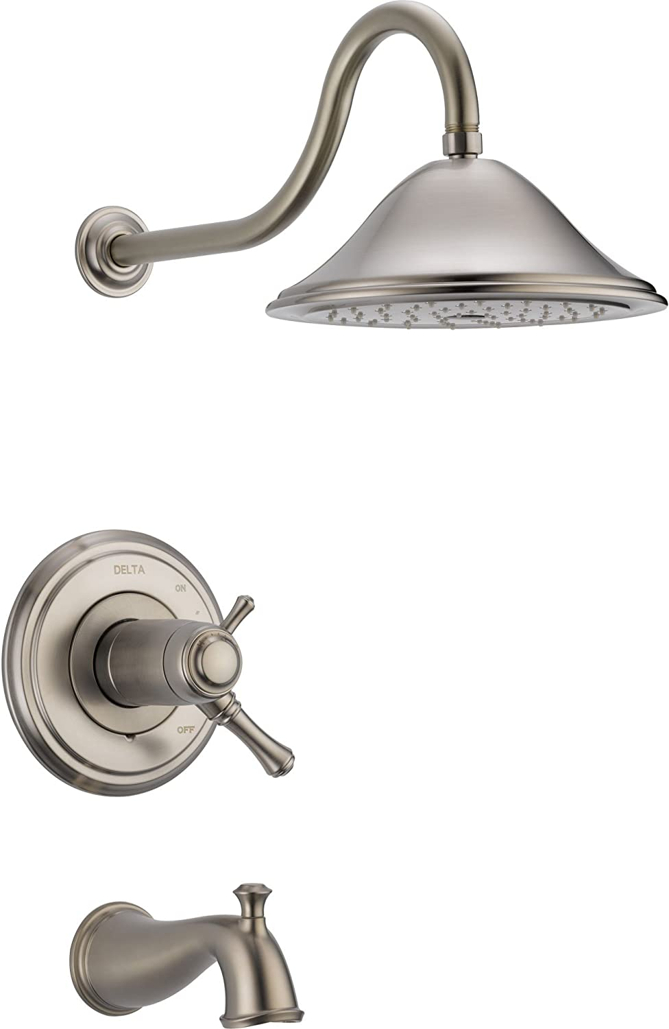 Delta Cassidy Stainless Steel Finish Thermostatic Large Tub/Shower w/Valve D549V (Can NOT Ship to California)