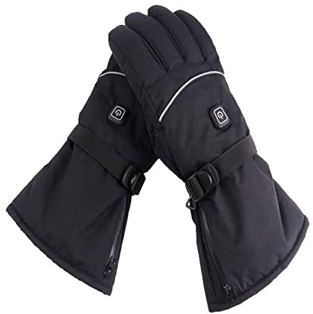 Heated Gloves, MACHSWON 1 Pair 3.7 V Outdoor Multifunction Gear Shift Battery Heated Gloves
