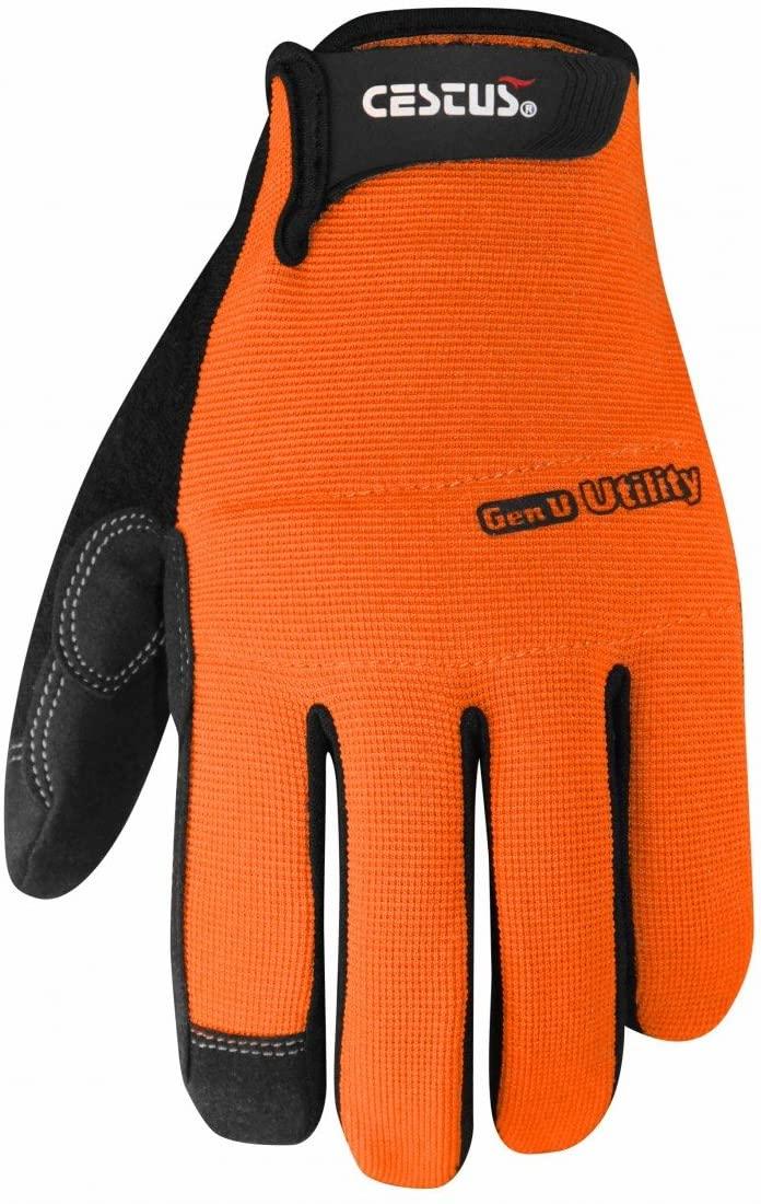 Cestus Gloves - GenU925 Men's Orange 6015 - 2XL Glove, (Pack of 1 Pair)