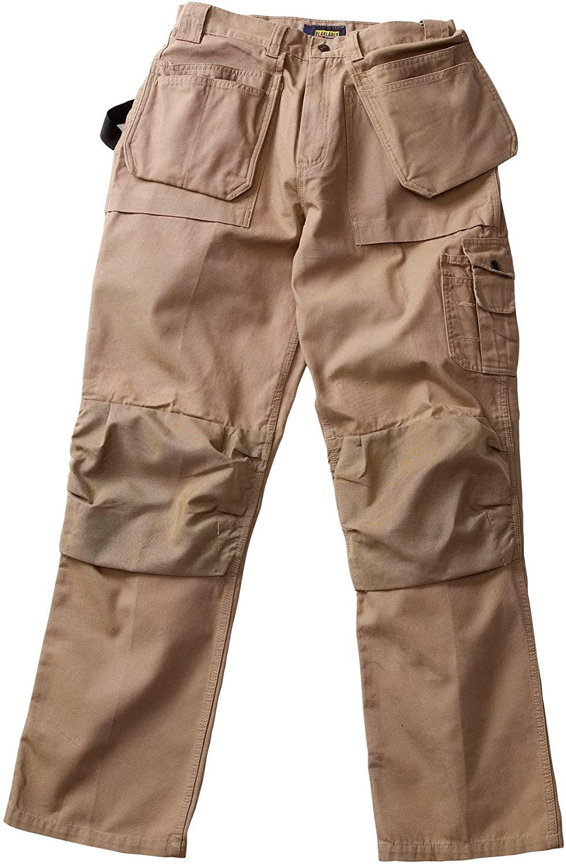 Blaklader Workwear Bantam Pant with Utility Pockets, 38-Inch Waist, 34-Inch Length, 8-Ounce Cotton - Khaki
