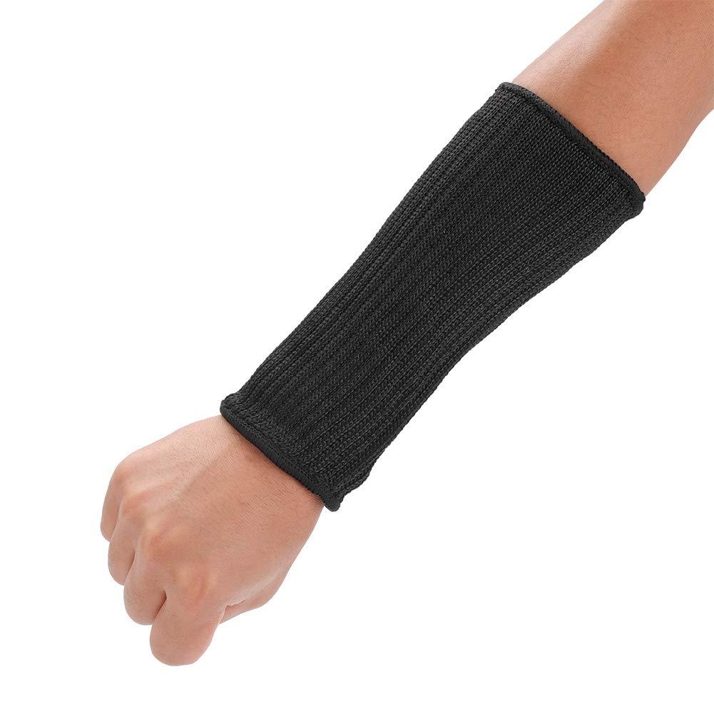Qiilu Anti Cut Sleeves, 1 Pair Cut-Resistant Sleeves Anti-Cut Arm Guard Cutting Scratching Protection(9# 20cm)