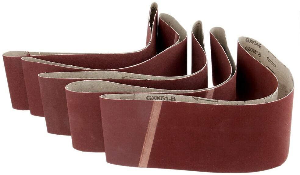 5Pcs Cloth Sanding Belts 50mm x 686mm Sanding Paper Sanding Belts Assortment 400 Grit
