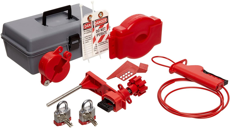 Brady Valve Lockout Toolbox Kit, Includes 2 Steel Padlocks