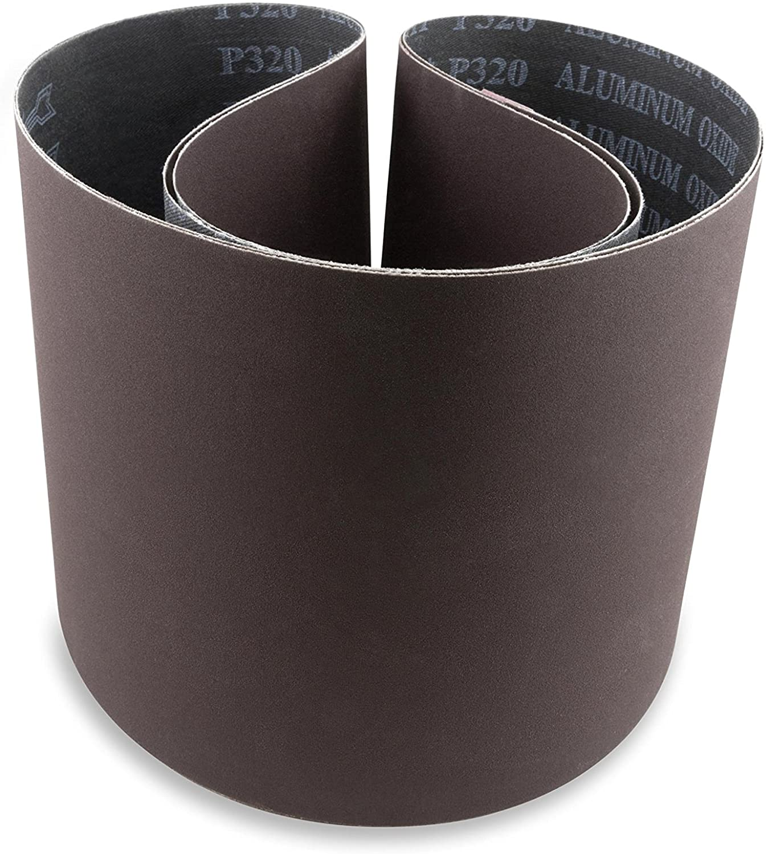 Red Label Abrasives 6 X 48 Inch 120 Grit Aluminum Oxide Premium Quality Multipurpose Sanding Belts, 2 Pack