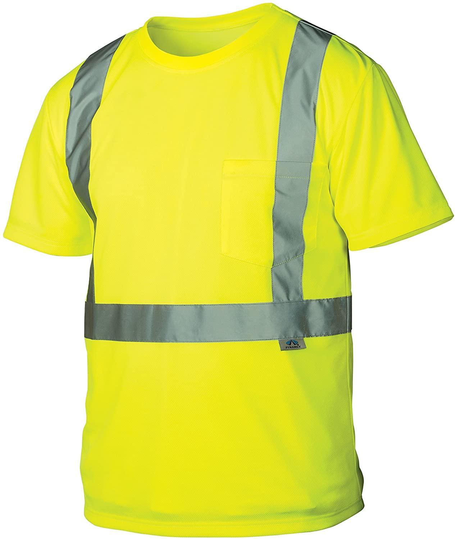 Pyramex RTS2110M RTS21 Series T-Shirt Hi-Vis Lime - Size Medium