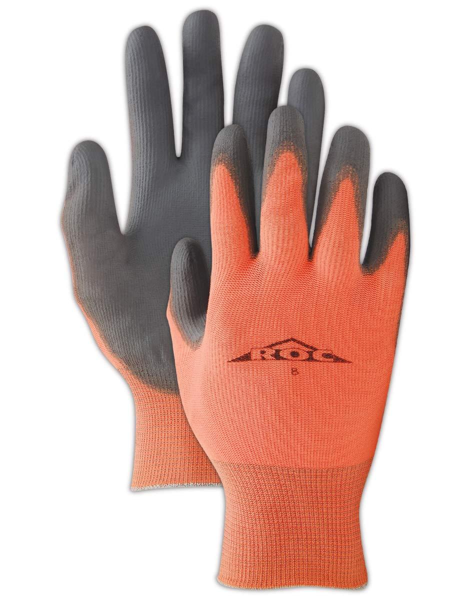 MAGID GP140 ROC Nylon Shell Polyurethane Palm Coating Glove with Knit Wrist Cuff, Work, 9