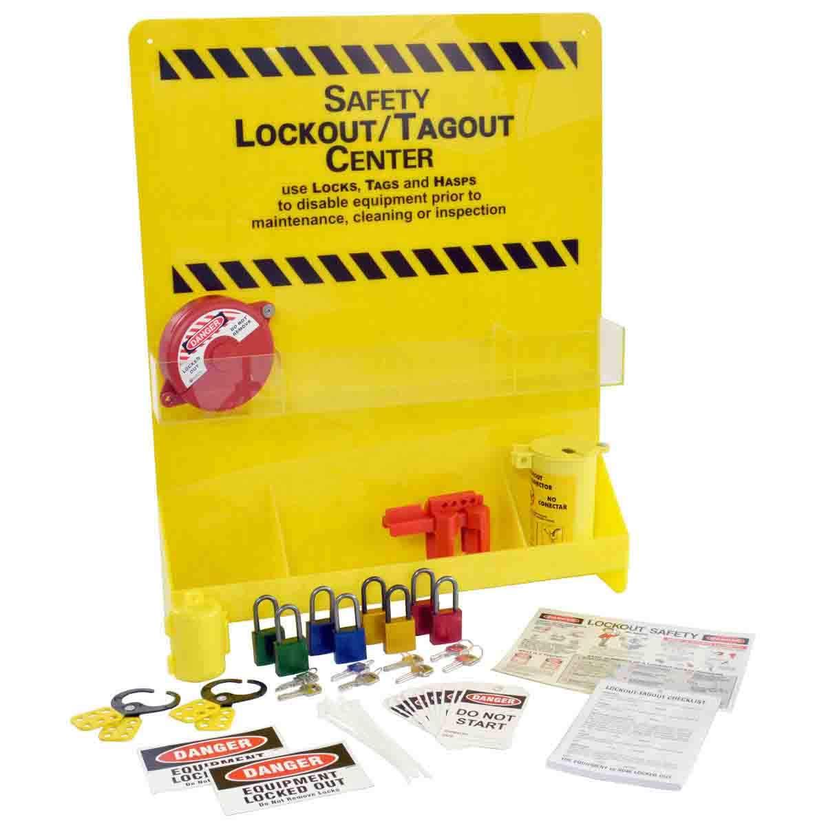 Brady LC502E Prinzing Large Yellow Lockout Center (1 Each)