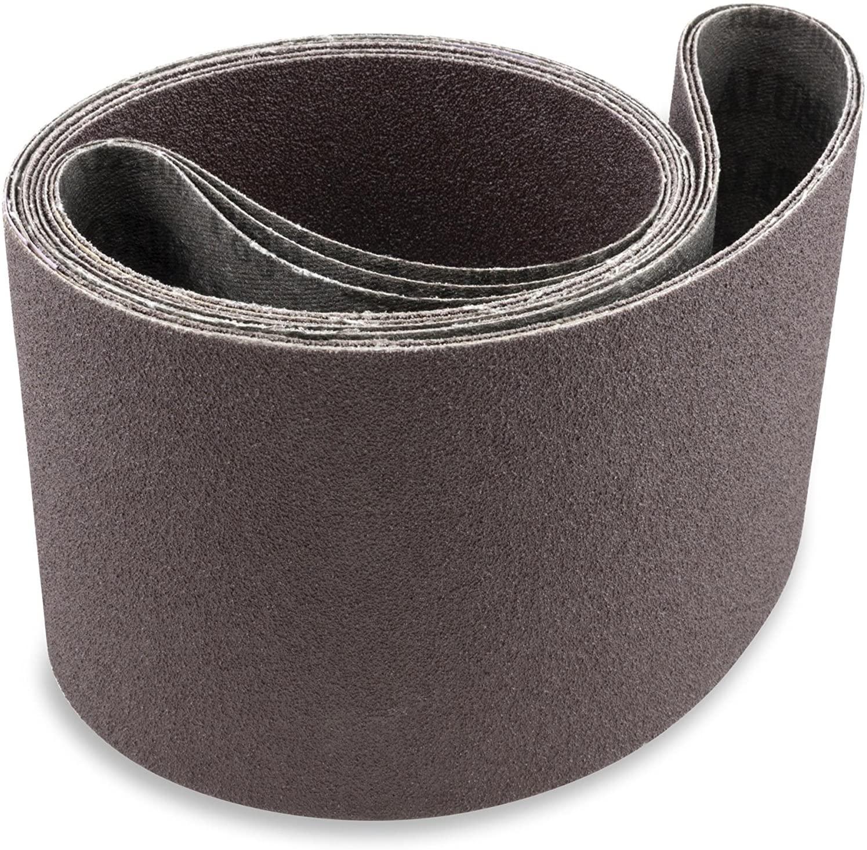 Red Label Abrasives 6 X 80 Inch 180 Grit Aluminum Oxide Premium Quality Multipurpose Sanding Belts, 2 Pack
