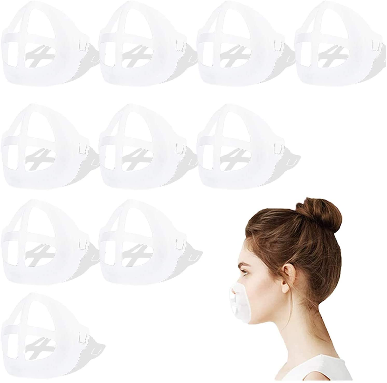 YINXN 【10PCS】 3D Mask Bracket,Washable Reusable Face Mask Inner Support Frame Face Bracket Comfy Lipstick Protector Stand Increase Breathing Space