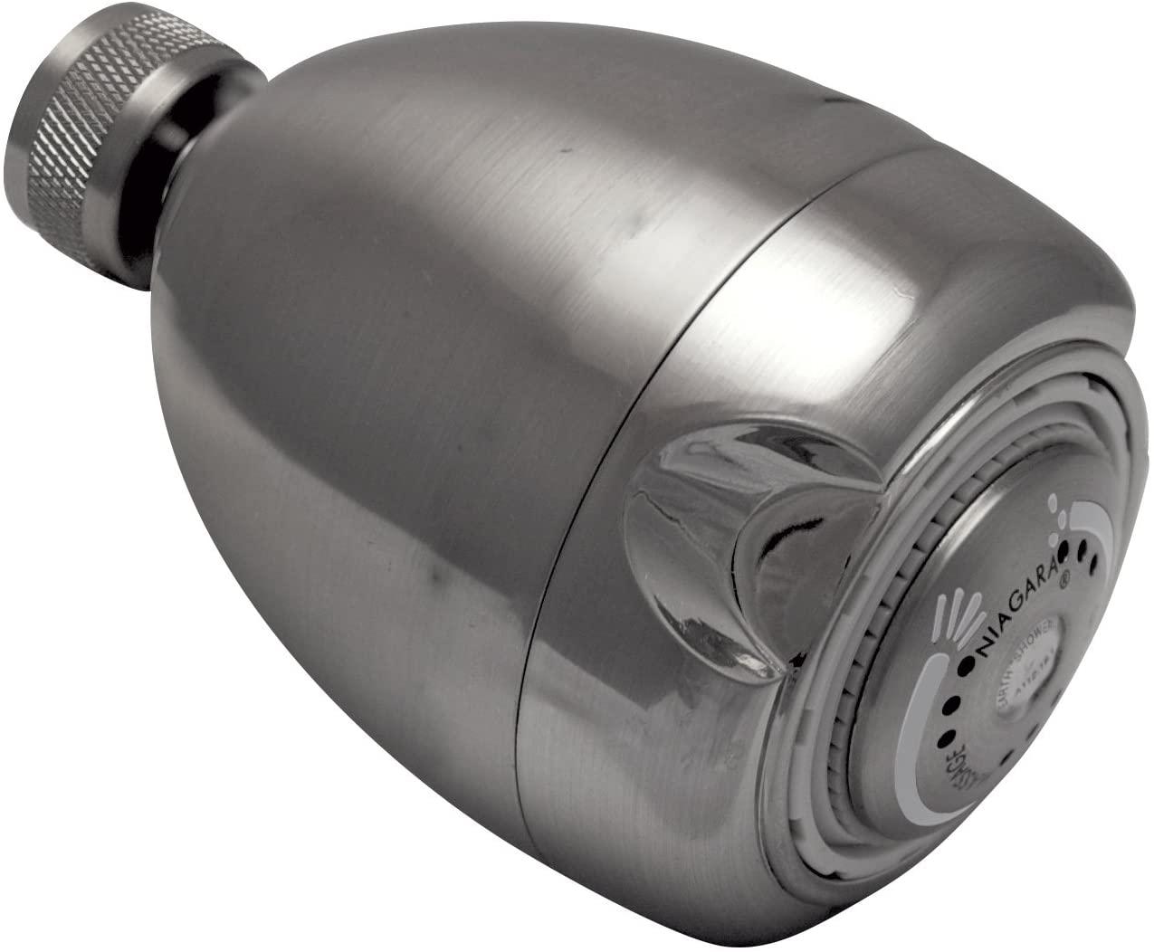 Earth Showerhead - Niagara Conservation | Energy & Water Saving Showerhead (1.5 GPM) High-Efficiency 3-Spray Brushed Nickel Fixed Shower Head (N2915BN)