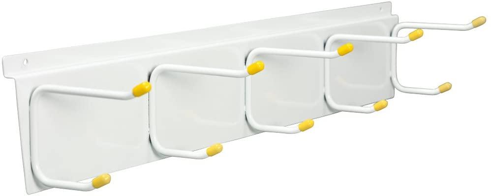 GarageTek Coat & Hat Rack Wall Organizer | Wall Mount Storage Rack | Hat Stand, Coat Rack, Helmet Holder, Slatwall Accessories - Mounts on TekPanel, TekTrak and Most Other Garage Storage Panels
