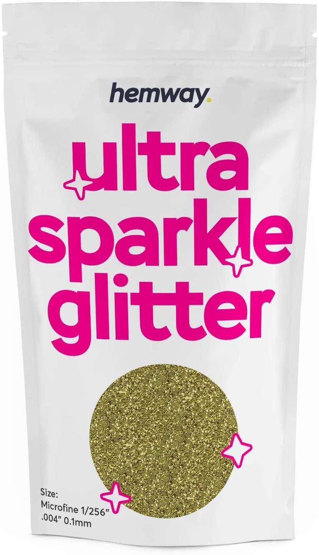 Hemway Sand Gold MICROFINE Premium Multi Purpose Glitter 1/256