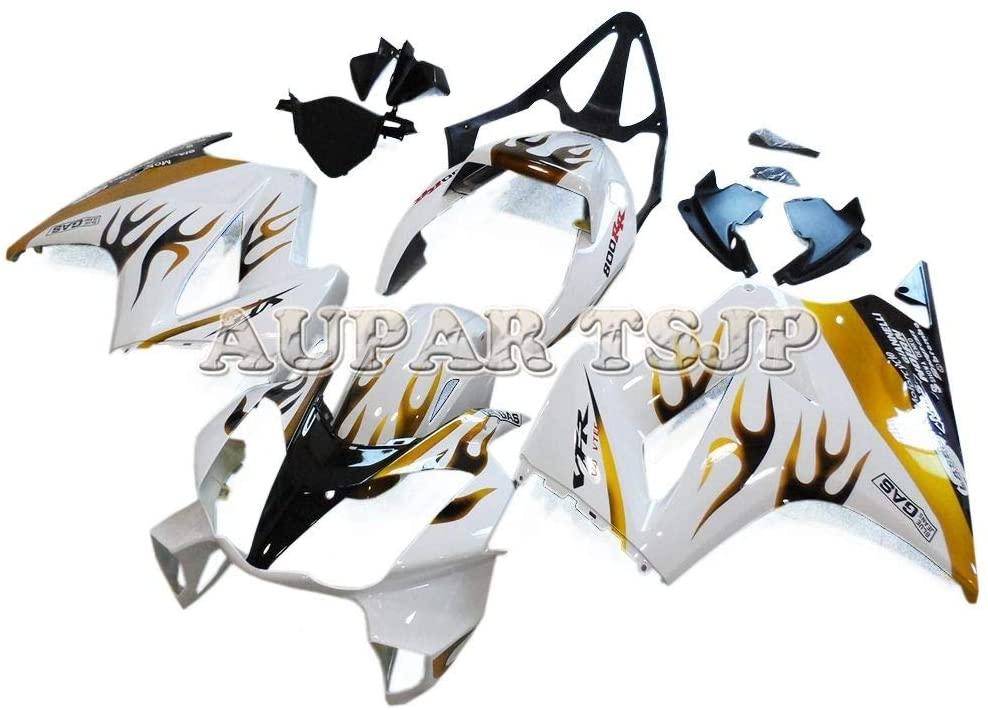 Complete Motorcycle Fairings for Honda VFR800 2002-2012 VFR800 02 03 04 05 06 07 08 09 10 11 12 ABS Plastic Motorbike Covers Bodywork White Black Gold Flames