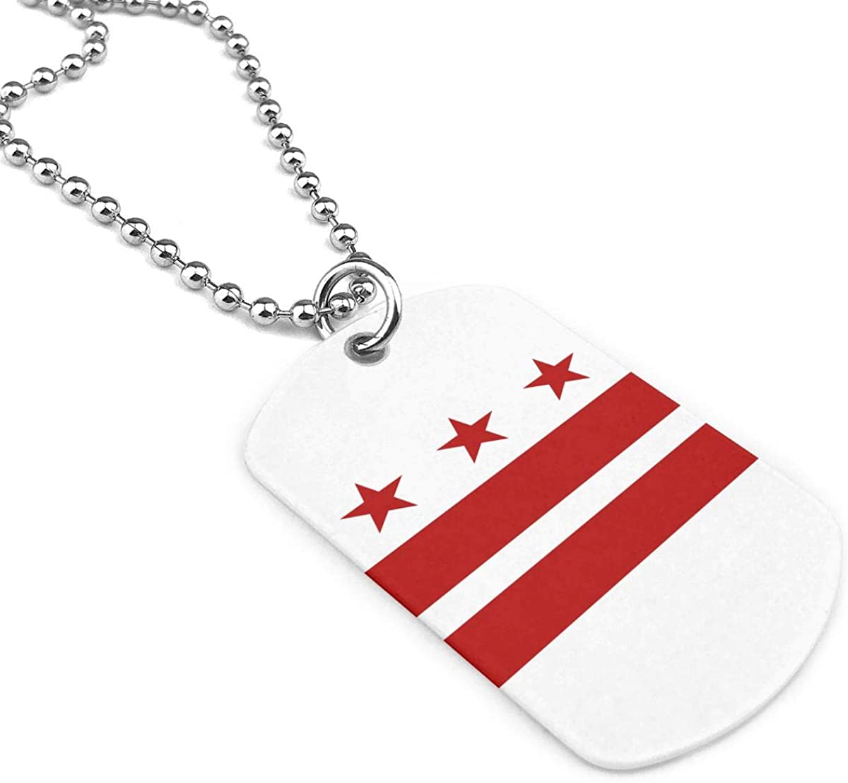 Flag Of Washington D.C. Jewelry Pendant Military Brand Necklace Metal Dog Tag
