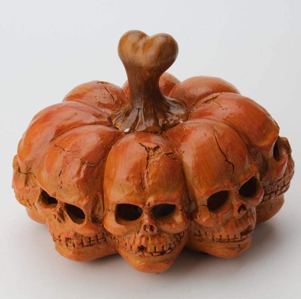 Faceted Skull Portable Pumpkin Lantern Horror Desktop Skull Decoration Halloween Party Decorations