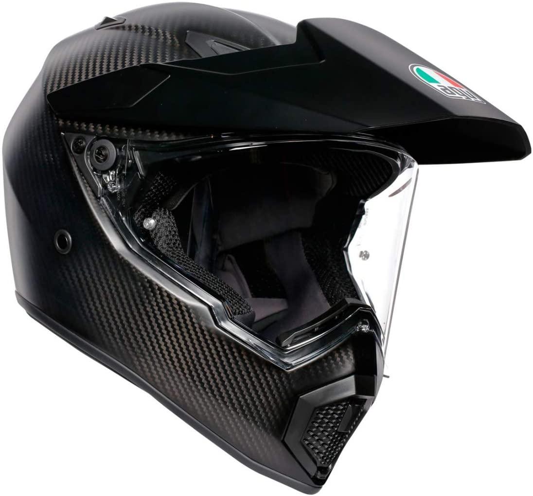 AGV AX9 Street Motorcycle Helmet - Matte Carbon - MS - Medium Small