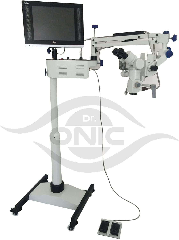 (110-240V) Neurosurgery Operating Microscope 3 Step,Floor Type,45° Fix Binoculars,LED Screen, HD Camera,Beam Splitter Dr.Onic