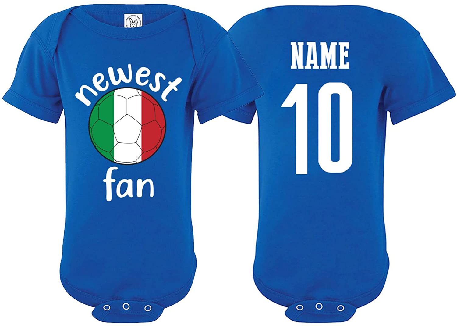 Italy Bodysuit Newest Fan National Team Soccer Baby Girls Boys Customized
