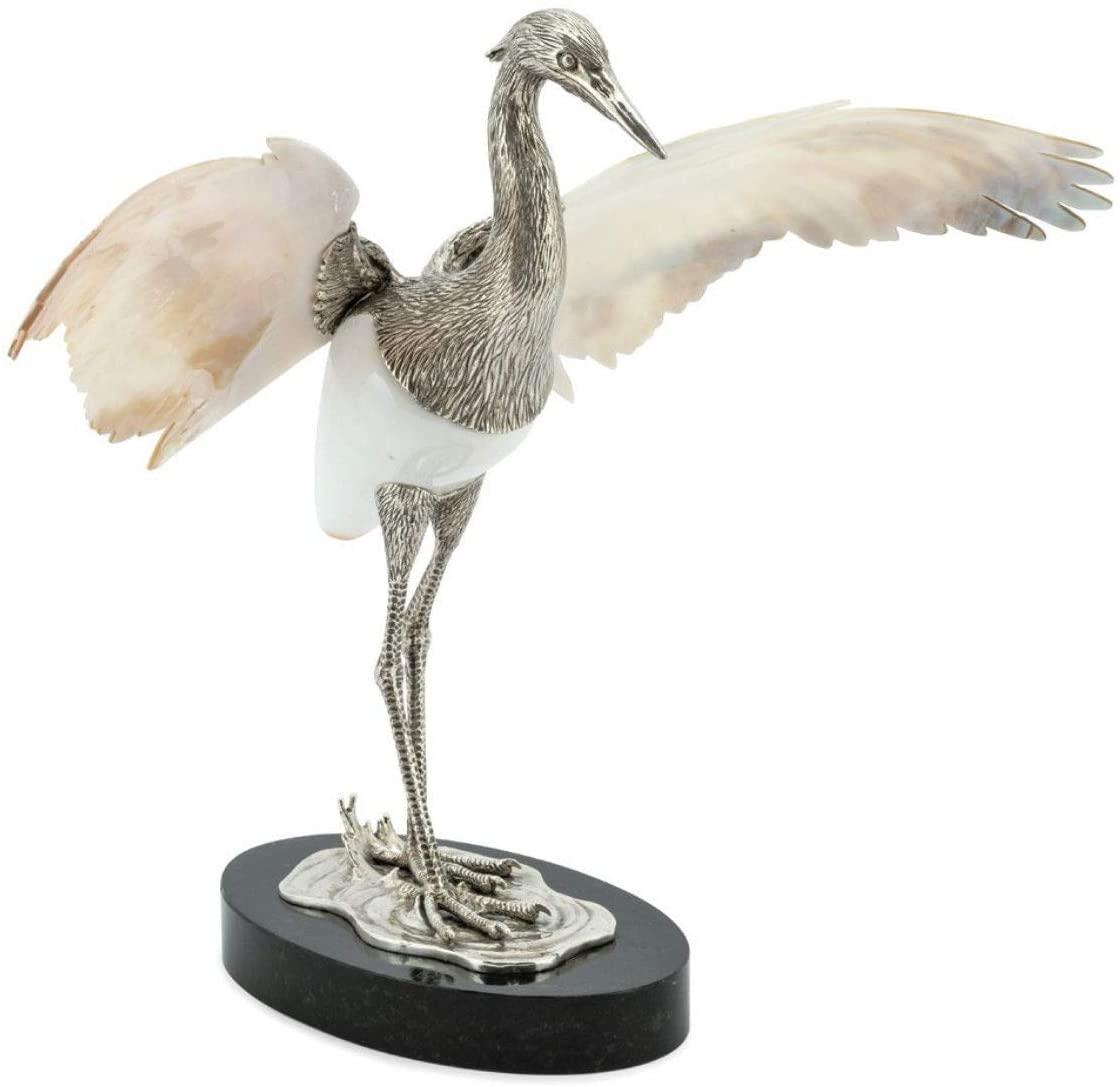 Abhika Silver Plated Heron SURATAN Shell Body