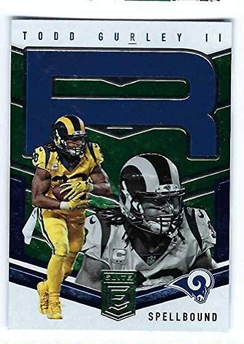 TODD GURLEY II 2018 Donruss Elite Spellbound #TG3 GREEN PARALLEL Football Card Los Angeles Rams