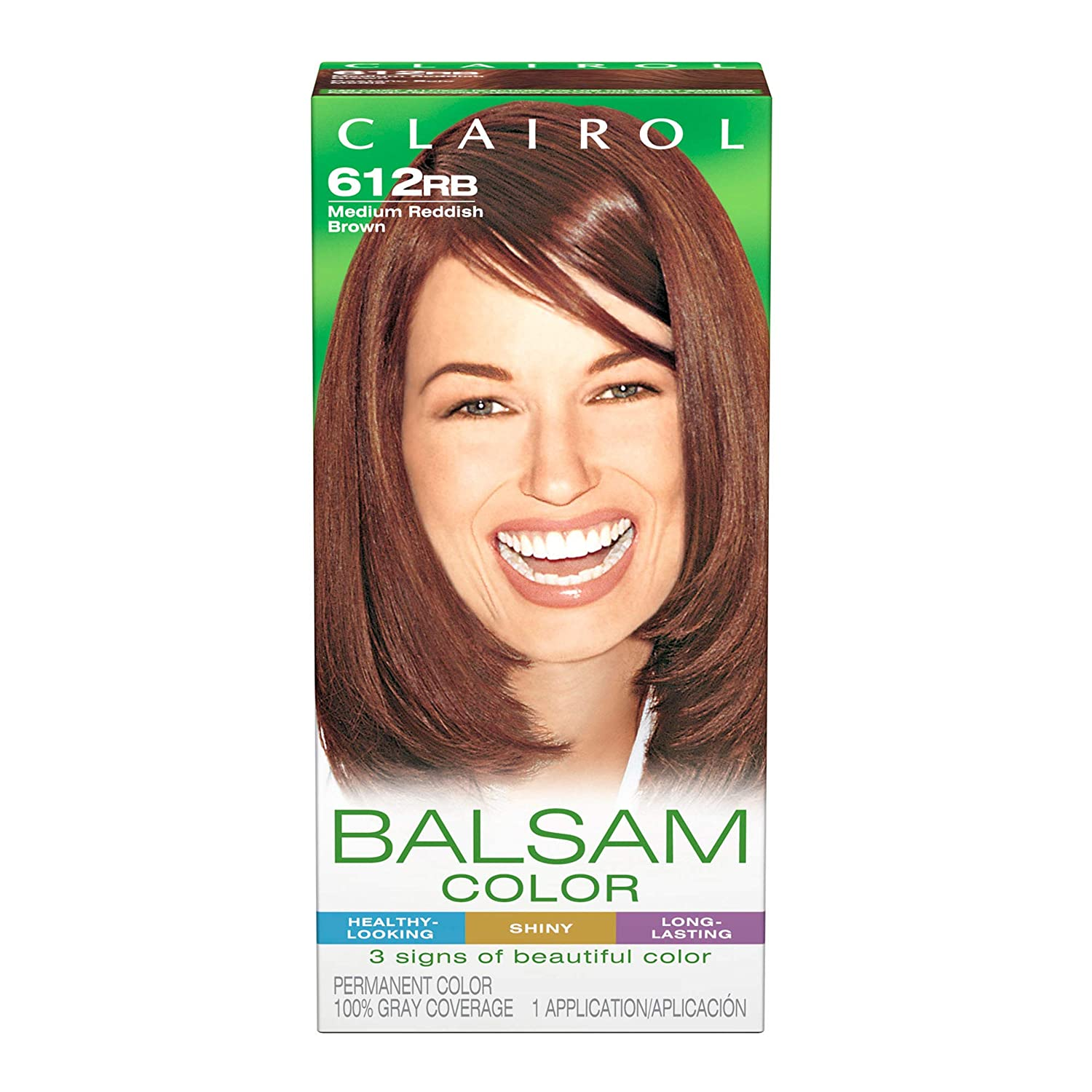 Clairol Balsam Hair Coloring Tools, 612rb Medium Reddish Brown