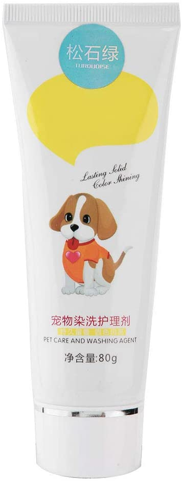 80g Pet Dog Hair Color Dye Coloring Dyeing Harmless Natural Dyeing Agent Safe(Green)