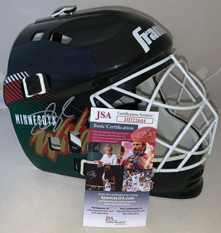 Devan Dubnyk signed Minnesota Wild Replica F/S Full Size Goalie Mask JSA - Autographed NHL Helmets and Masks