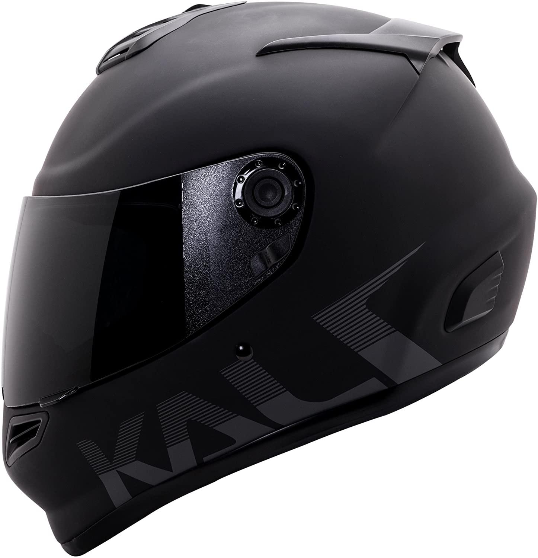Kali Catalyst Solid Matte Black Full Face Motorcycle Helmet S M L XL (XL)