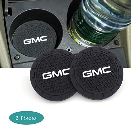 SHENGYAWAUTO Car Interior Accessories Cup Holder,Anti Slip Cup Mat Insert for GMC All Models 2 Packs,2.75 inch