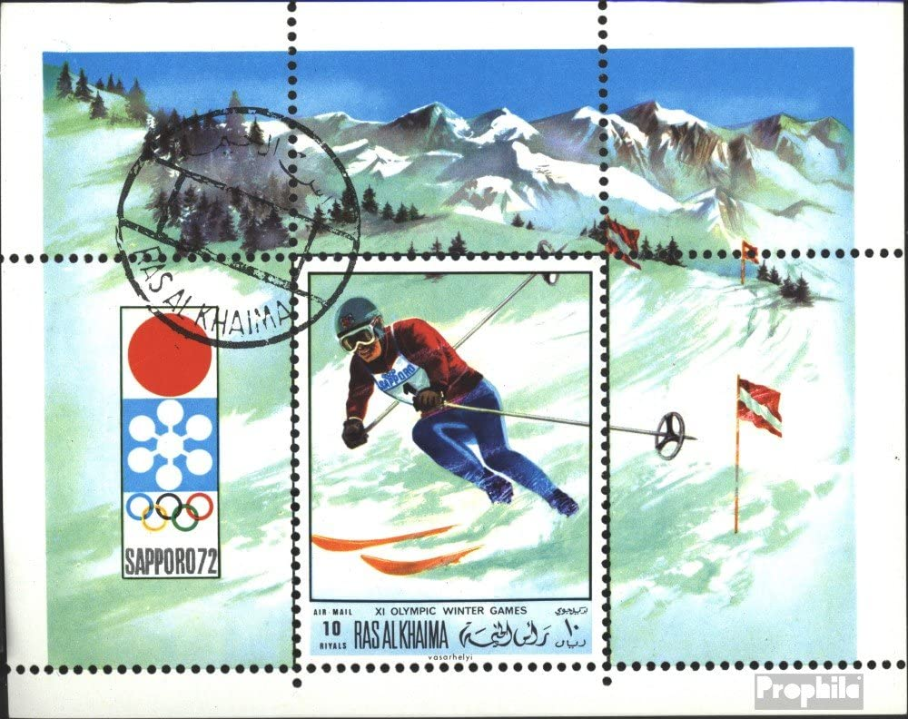 Ras al Khaimah block85a (Complete.Issue.) 1970 Advertisement for Olympic. Winter Games (Stamps for Collectors) Winter Sports