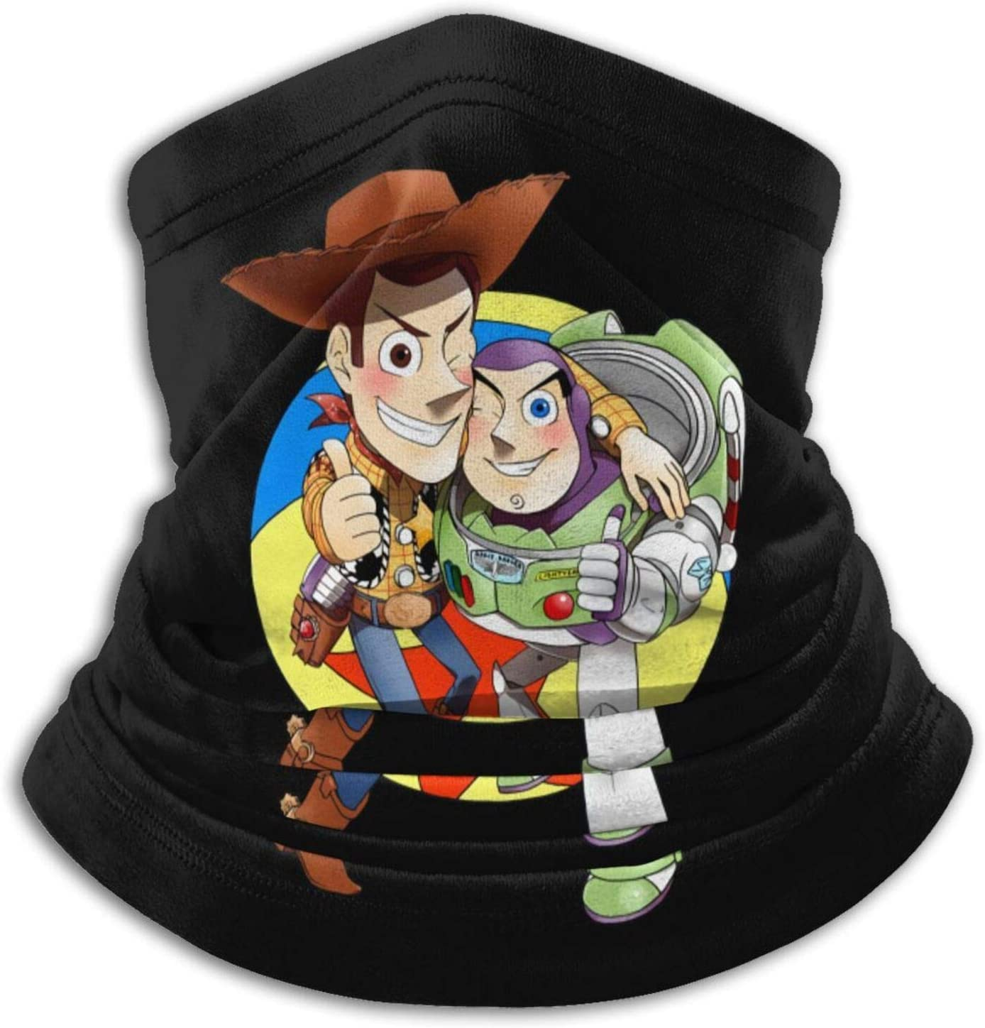Buzz Lightyear and Woody Microfiber Neck Warmer Soft Headwear Face Scarf Mask for