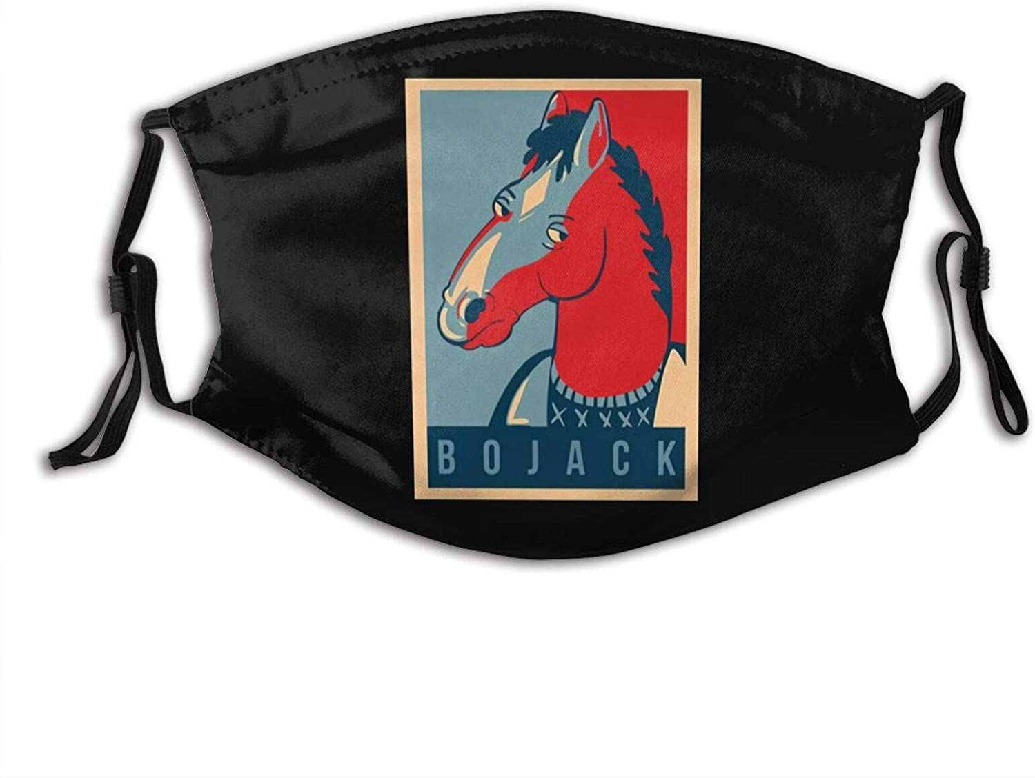 Bojack-Horseman Adjustable Unisex Reusable Face Mask Anti-Dust Masks Mouth Scarf Balaclava Face Protection For Outdoor With 2 Filters
