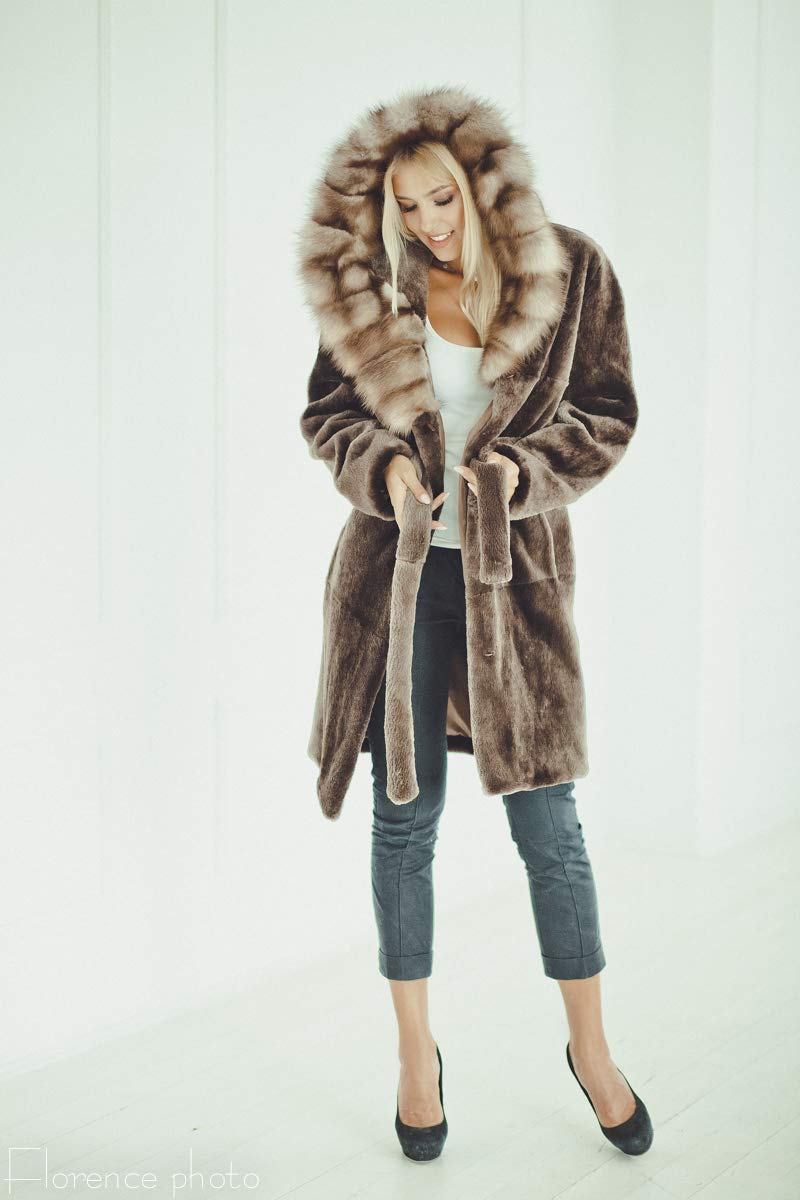 Luxury Fur coat for women - Long womens winter jacket